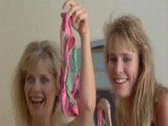 Barbara Crampton and Kathleen Kinmont posing nude in a movie