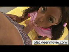 cute black teen babe taking white dick