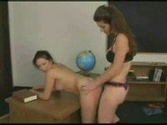 Mature teacher strapon to schoolgirl