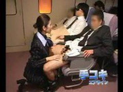 Asian air stewardess fucking
