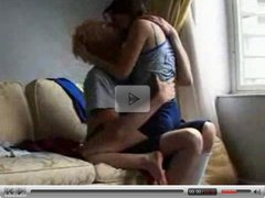 Young couple homemade fuck on the couch