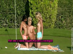 Debby and Jenny and Aneta lesbo dolls undressing