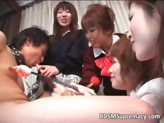Group of sweet Asian sluts punishing part3