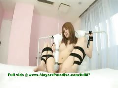 Erika Kurisu innocent cute asian girl is tied up and fondled
