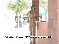 Shae tender lusty woman public flashing
