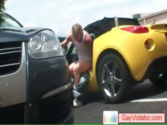 Blonde bro getting asshole hammered in vehicle part4