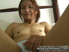 Small tits asian babe fucks a raging part1