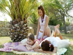 Incredible lesb threesome from Russia