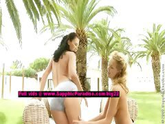 Andy and Zoe lesbo teen girls undressing