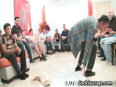 Group of horny guys crave for cock part6