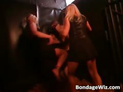 Two hot blondes in kinky sex scene part5