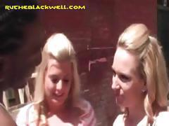 Two Hot Blondes Share Black Dick