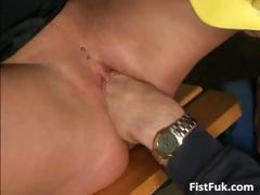 Horny blond sucking cock and gets her part6