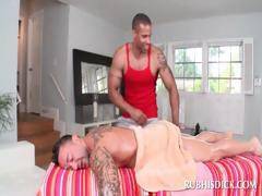 Stunner gets gay full body massage