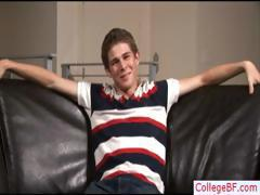 Hot college twink wanking his dick part5