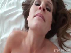 Close-up with pussy fucking in POV