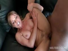 Cunt fuck with hot MILF and black dude