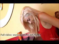 Jayde _ Amateur naughty blonde playing with her pussy in a public place