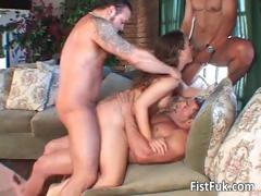 Hot cock starved slut takes on three part6