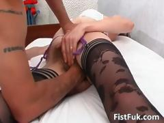 Mature slut gets her hairy pussy part1