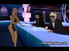 Stunning 3D cartoon blonde honey takes a cock in her pussy