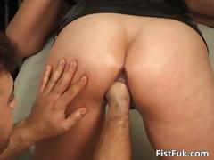 Curly MILF gets fucked with a dildo than part4