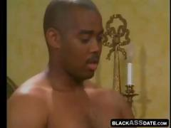 Two black studs and their monstrous dicks penetrate this housewife's pussy