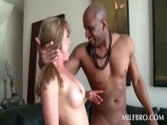 MILF gets quim nailed by black dick
