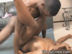 Dirty Black Ghetto Slut Rough Blowjob And Fucking