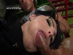 Slut with huge pussy lips gets enormous part3