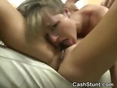 Girls Suck Dick And Fucked In Money Talks Threesome