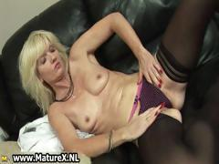 Blonde mature housewife loves oiling part5