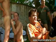 Cock suckers galore at the barbeque for horny men only