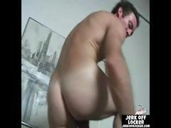 Mature dude likes to play with his cock  when his lwife leaves to work