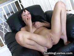 Lesbian babe filming her part1