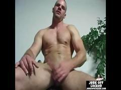 Mature stud loves to play with his cock