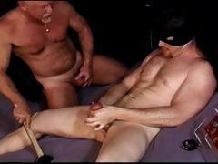 CBT I make muscle hunk squeeze his own balls as I bash them with abandon and then do it again.