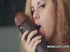 Blondie fucking huge dildo