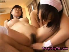 Busty japanese babes in hot threesom part3