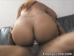 Black Slut Fucked Roughly In Pussy And Throat