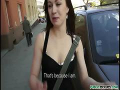 Slutty amateur babe doggy and anal cock ride in public