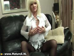 Blonde mature mom gets horny and loves part3