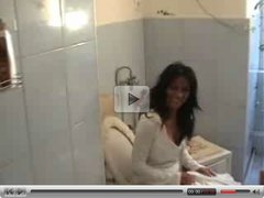 Amateur jill - blowjob in bathroom