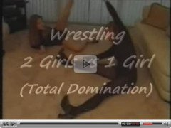 Wrestling 2 Girls Vs. 1 Girl