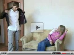 Teens sex on the sofa