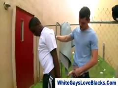Interracial gay amateur thugs take it up the ass like pros