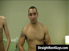 Hot hetero hunks without money go gay part4
