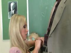 Extreme boobs banged in the school class