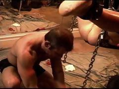 CBT cock electro stim and butt plug on hot young muscle stud.
