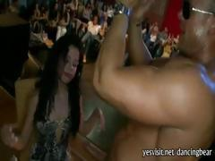 Wild hot girls suck off stripper cock on bachelorette party